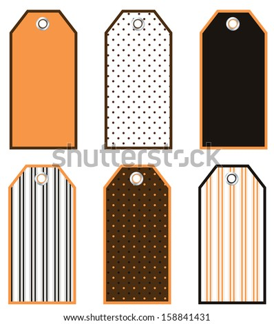 Halloween Tag Set  - stock vector
