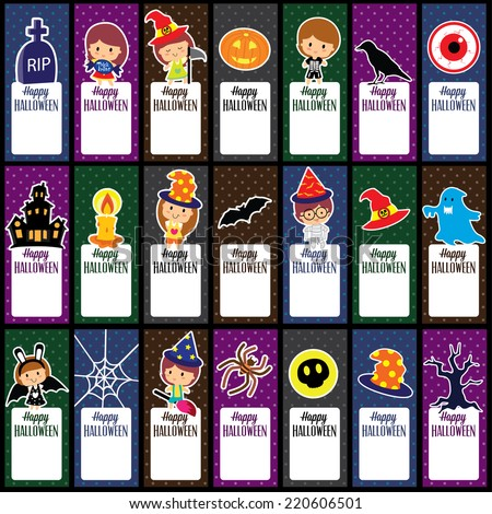 halloween tags layout design