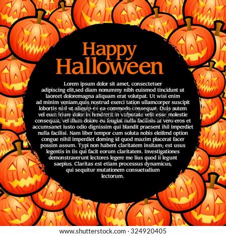 Halloween template - stock vector