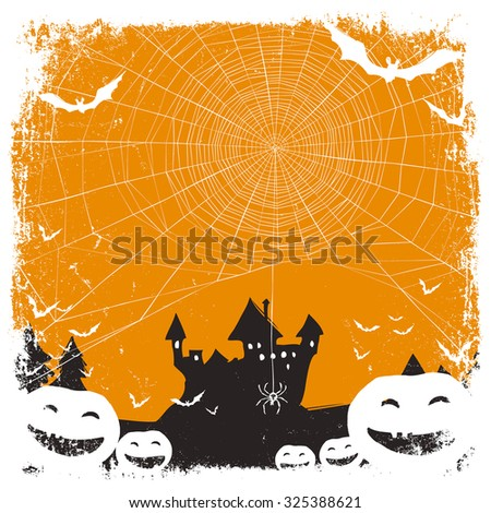 Halloween themed background with space for text - stock vector