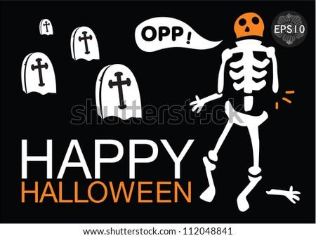 Halloween-themed Design, Vector - stock vector