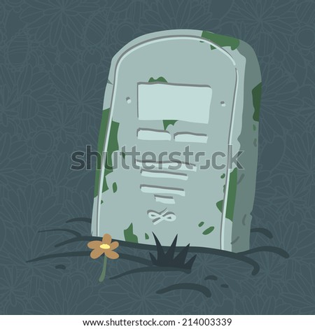 Halloween tomb. Vector tombs icons for web page backgrounds, postcards, greeting cards, invitations, pattern fills, surface textures. - stock vector