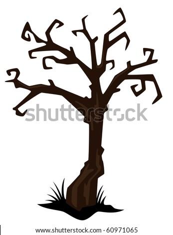 Halloween Tree-vector - stock vector