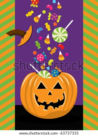 Halloween Trick Or Treat - stock vector
