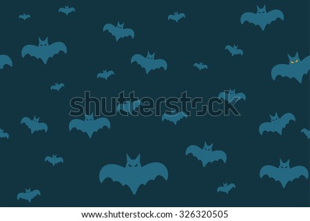 Halloween vector background seamless pattern. Bat fly, Halloween symbols. Halloween silhouette for Halloween party design.Halloween seamless background,halloween bats vector seamless pattern,bat icons - stock vector