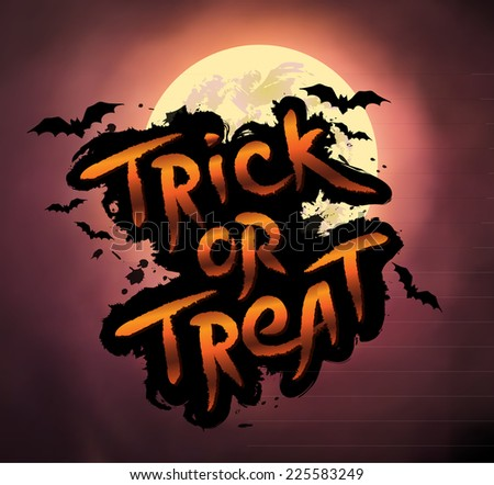 Halloween vector illustration. - stock vector
