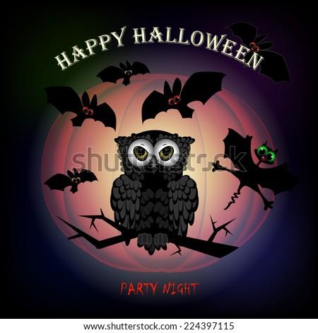 Halloween vector illustration. Isolated useful elements  - stock vector