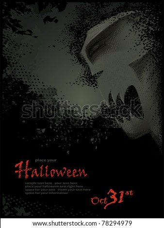 Halloween vector series.Halloween vector template. Grouped and layered objects for easy editing - stock vector