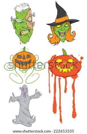 Halloween vectors - stock vector