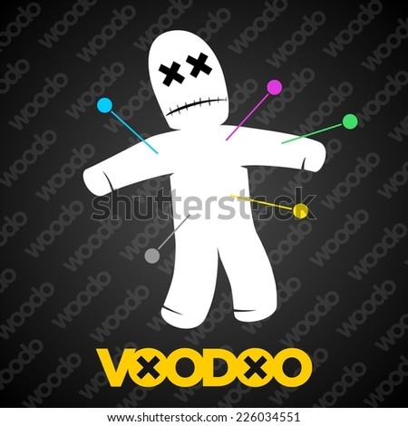 Halloween voodoo doll - stock vector