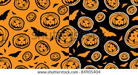 halloween wallpaper with two different background colors