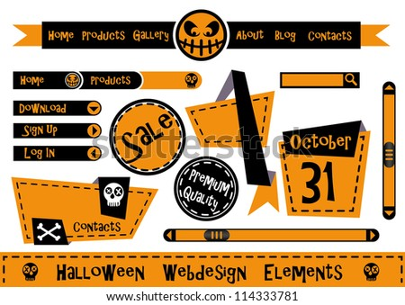 Halloween Webdesign Elements - stock vector