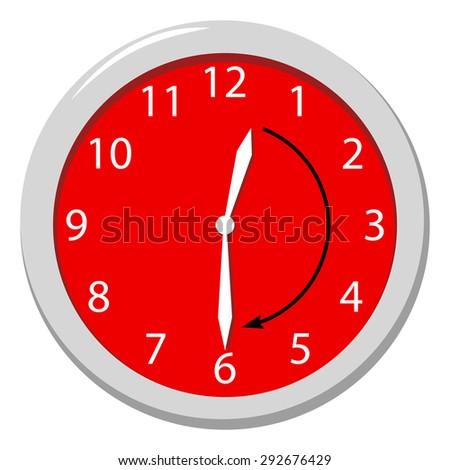 Halv-hour - stock vector
