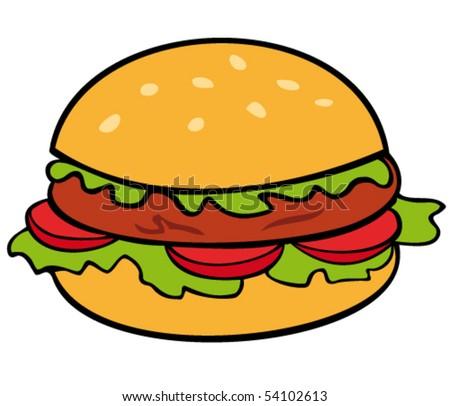 Hamburger. - stock vector