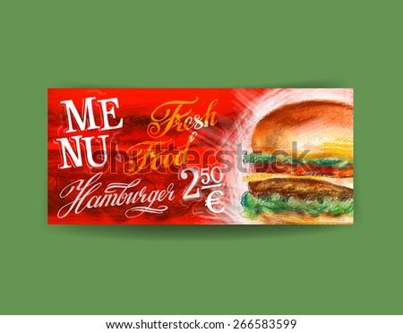 hamburger, burger vector logo design template. fast food or diner icon. - stock vector