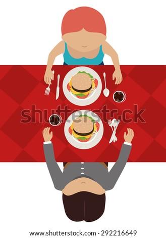 Hamburger digital design, vector illustration eps 10. - stock vector