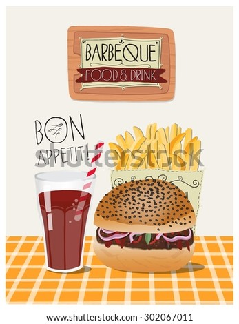 Super Hand Drawn Fast Food Posters Sandwiches Stock Vector 683353540  BR16