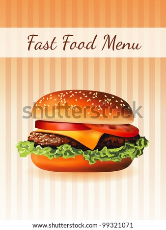 hamburger menu - stock vector
