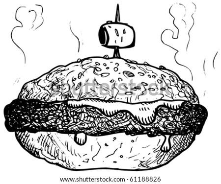 hamburger sandwich vector - stock vector