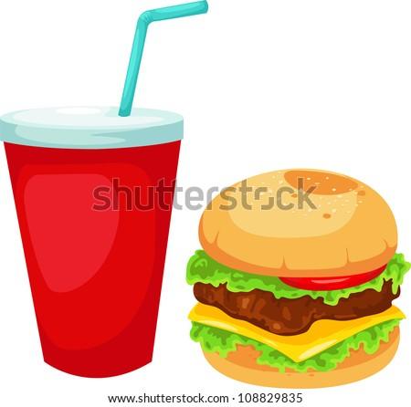 Hamburger set vector illustration - stock vector