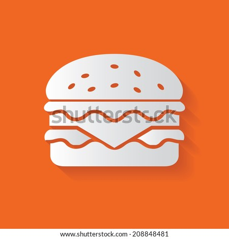 Hamburger symbol,clean vector - stock vector
