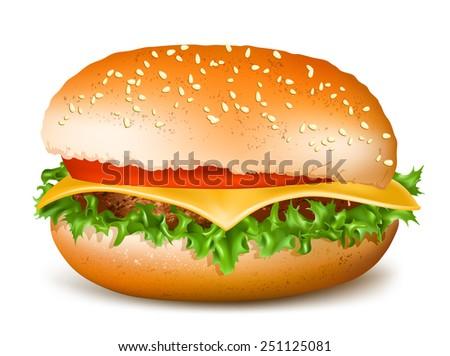 Hamburger. Vector illustration - stock vector