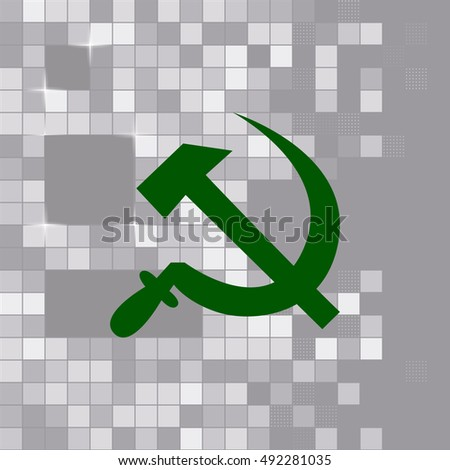 Hammer and sickle isolated stock vector icon illustration