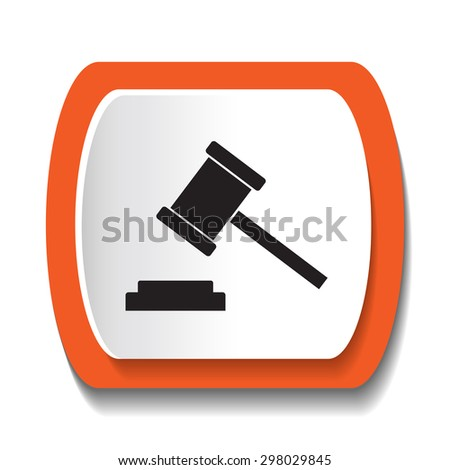 hammer icon - stock vector