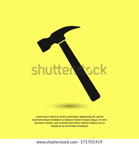hammer icon. One of set web icons - stock vector