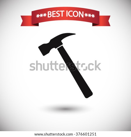 Hammer icon vector - stock vector