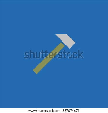 Hammer. Icon Vector. Icon Picture. Icon Graphic. Icon Art. Icon JPG. Icon JPEG. Icon EPS. Icon AI. Icon FLAT. Icon SIMPLE - stock vector