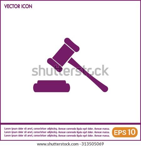 Hammer judge icon vector illustration - stock vector