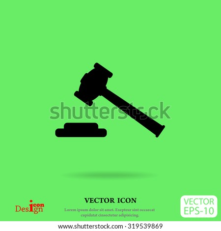 hammer judge vector icon - stock vector
