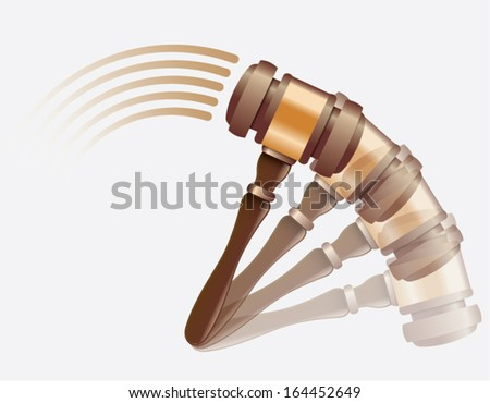 hammer on the move - stock vector
