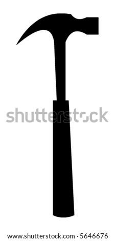 Hammer vector - stock vector