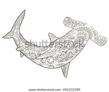 Hammer Head Shark Stock Images, Royalty-Free Images & Vectors ...