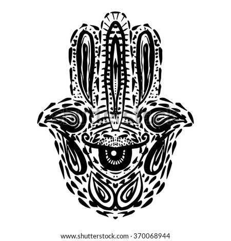 Hamsa Hand Divine Symbol Protection Evil Stock Vector Hd Royalty
