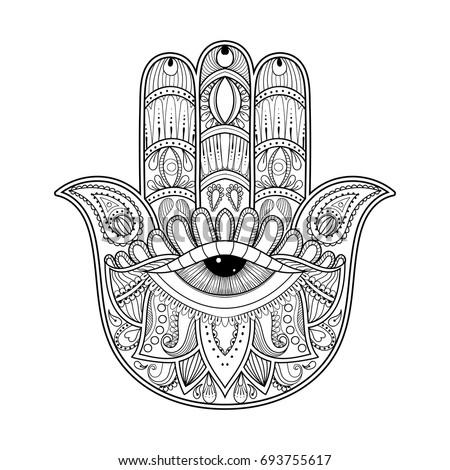 hamsa eye coloring pages - photo#9
