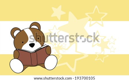 hamster baby cartoon reading wallpaper in vector format very easy to edit - stock vector