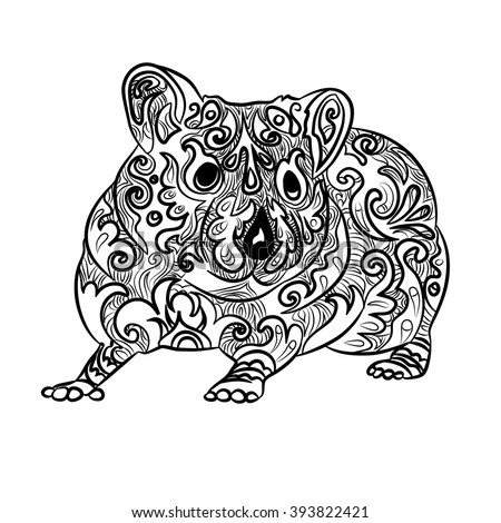 hamster tattoo stock images royalty free images vectors shutterstock. Black Bedroom Furniture Sets. Home Design Ideas