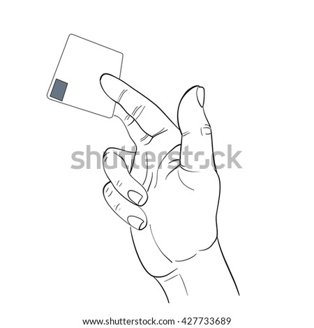 hand activity,hand holding business card