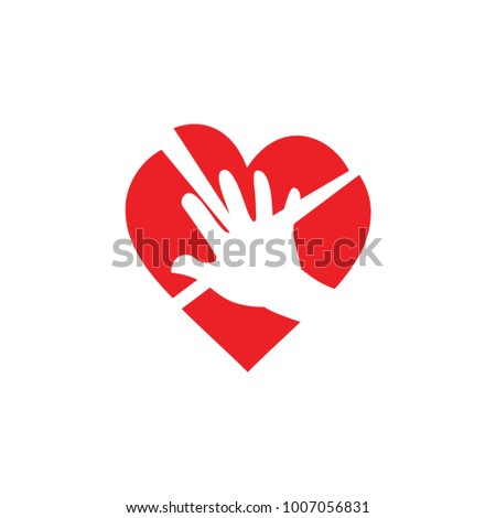 Hand Broken Heart Symbol Vector Stock Vector Hd Royalty Free