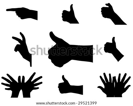 hand and finger signs illustrated