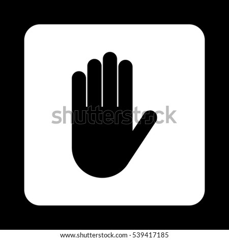 Hand  - black vector icon