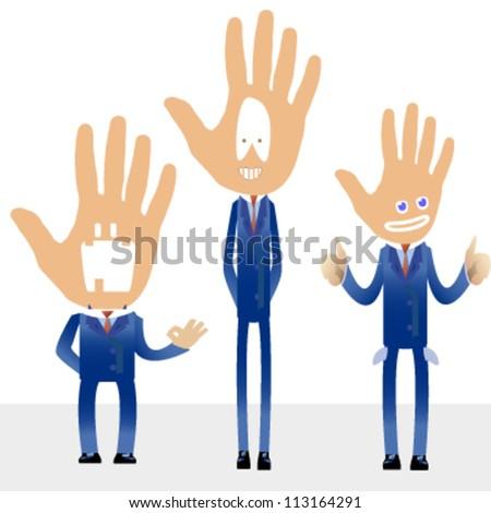 hand cartoon background. vector design - stock vector