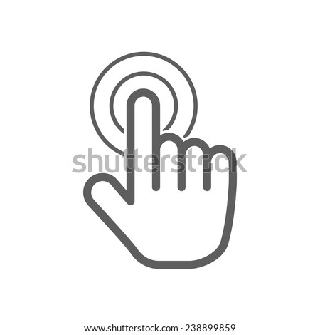 hand click icon - stock vector