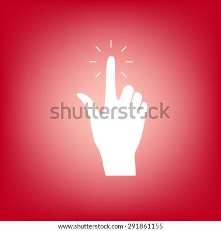 Hand click icon. - stock vector