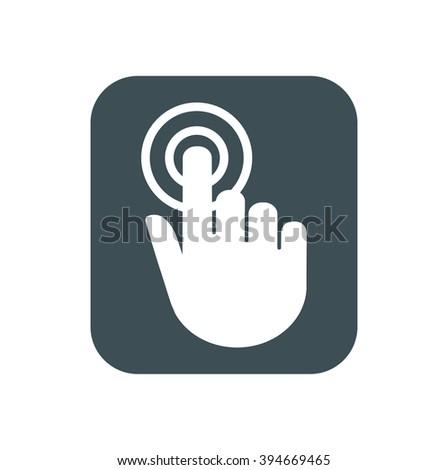 Hand click icon. Cursor sign. - stock vector