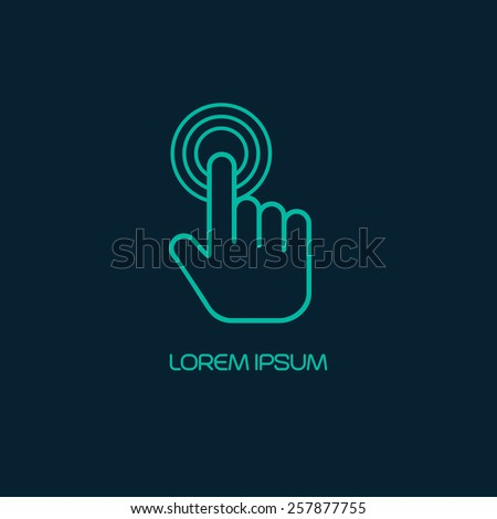 Hand click icon. Vector illustration - stock vector