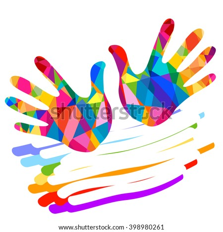 hand colorful illustration background - stock vector